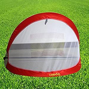 happu-store Indoor Outdoor Instant Pop Up Football Goals Nets Carry Bag Kids Set Hot Sale Color: Red Model: , Toys & Games for Kids & Child