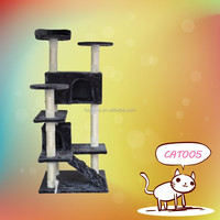Plush unique pet toys durable sisal cat scratching tree
