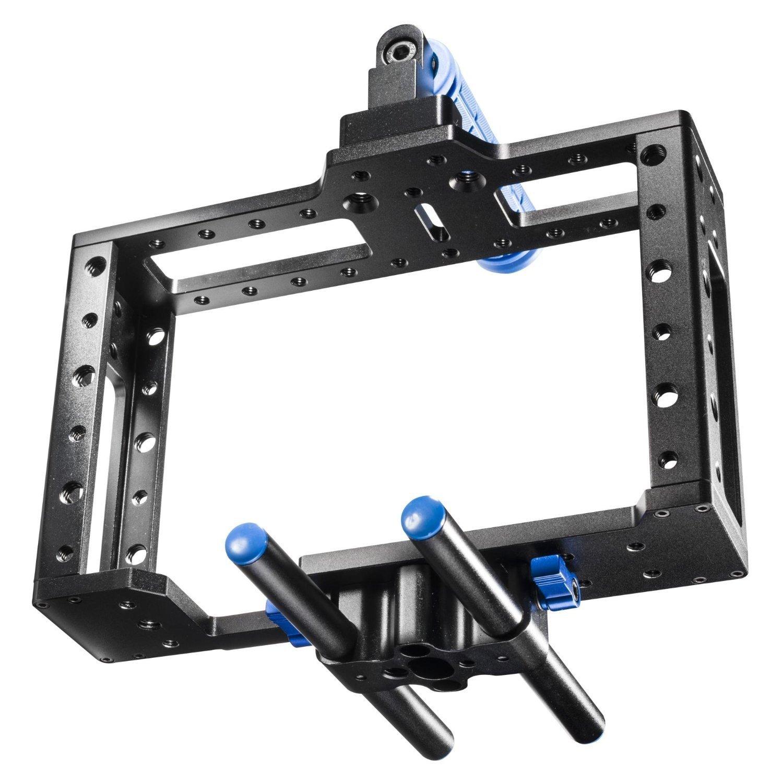 SunSmart Aluminum DSLR Camera Rig Cage for DSLR Camera//Video 5D Mark II