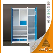 Home Furniture Beautiful Portable Large Wardrobe For Children Bedroom / Steel Wardrobe Cabinet