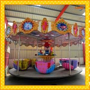 Popular kids rotating amusement park rides for entertainment place/new design carousel horse toys riding machine