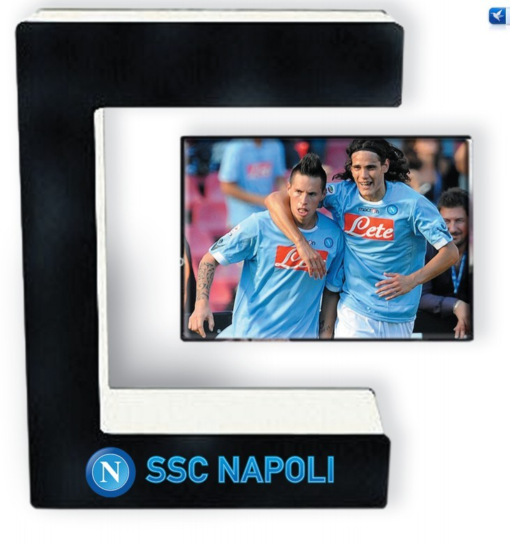 E shape decorative magnetic floating christmas gift /photo picture frame