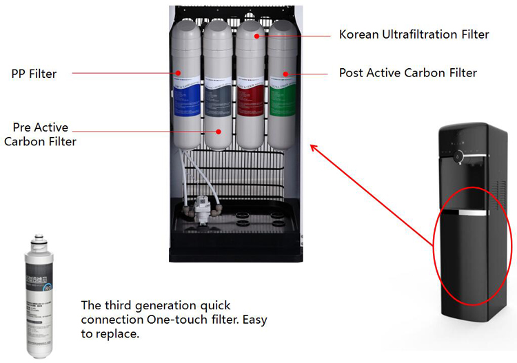 new arrival purifier hot and cold water dispenser