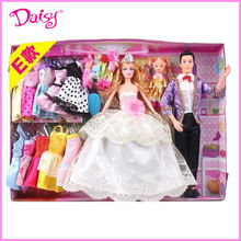11.5 inch ken and barbiee plastic wedding dolls