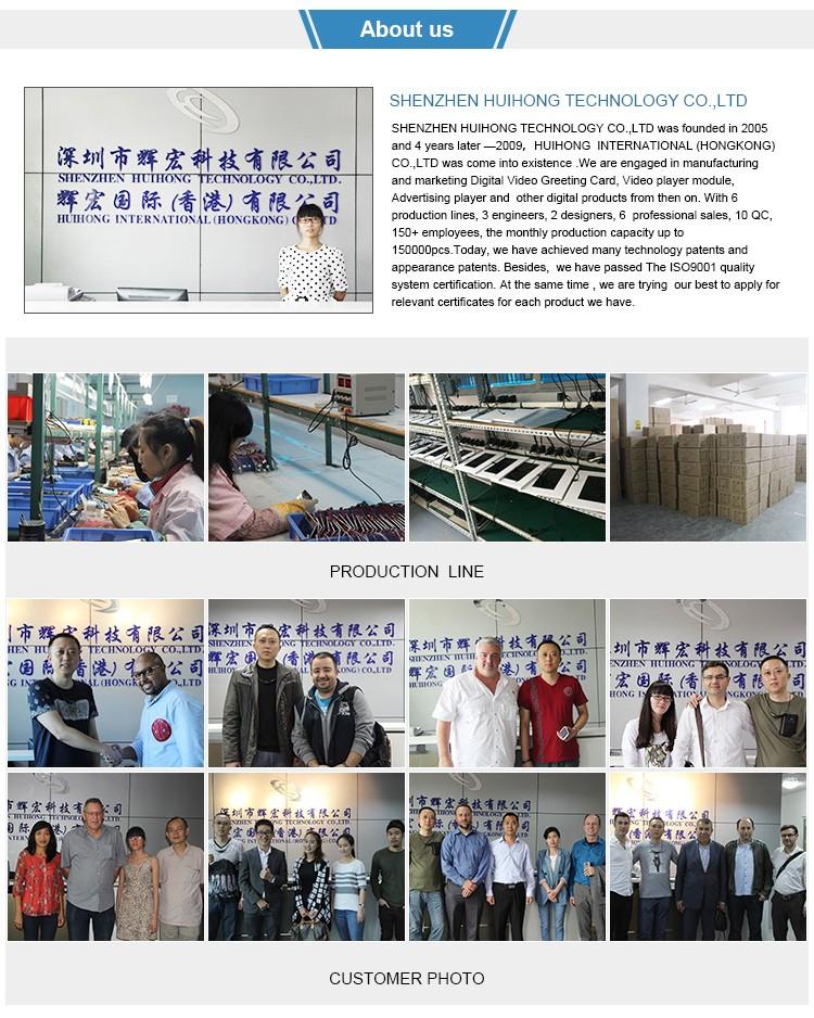 Hot 4.3 Inch 4 Color Printing Real Estate Video Brochure Sample ...