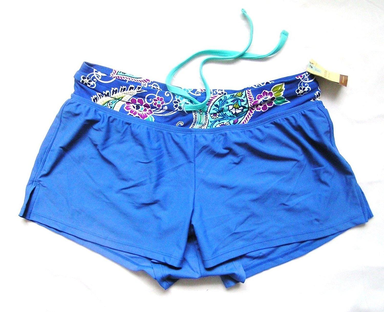 971c13073d3 Sonoma Life Style Swim Boy Shorts Bikini Bottom Swimwear Solid Blue Multi  M. null. Fashion Mens ...