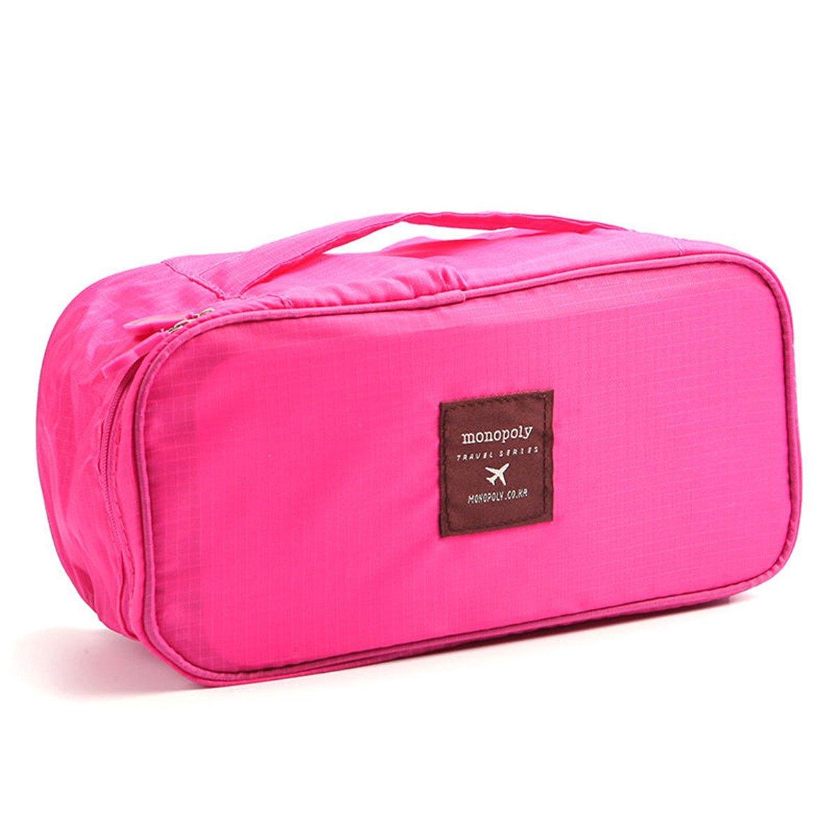 Yosoo 2-Pack Portable Travel Case Underwear Bra Drawer Closet Dividers Closet Organizers Storage Bag (Red)