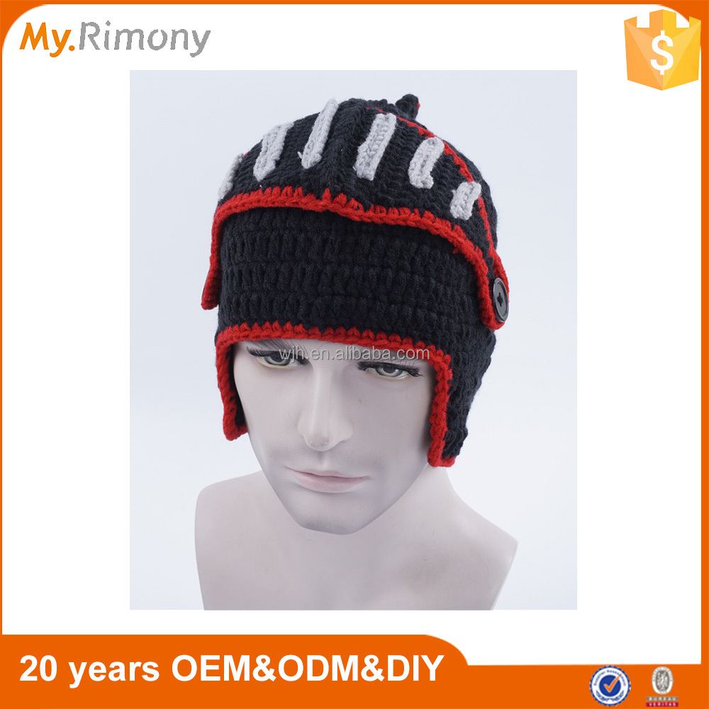 Wholesale Knitted Hats With Mask Roman Knight Beanie Hats Made In China
