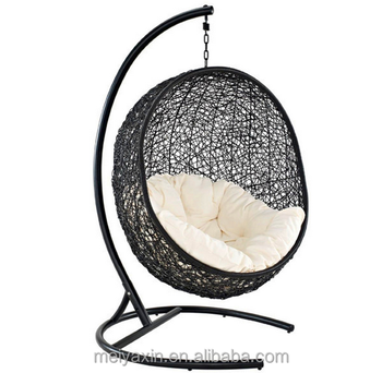 Mh 6018 pe rattan outdoor hanging egg chair cheap buy for Cheap hanging chairs