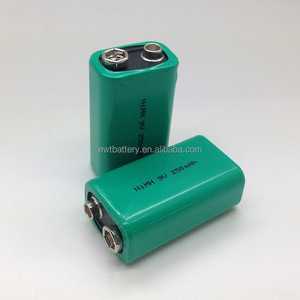 New 9V Ni-MH Rechargeable Battery 250mAh 9.6v nimh rechargeable battery pack