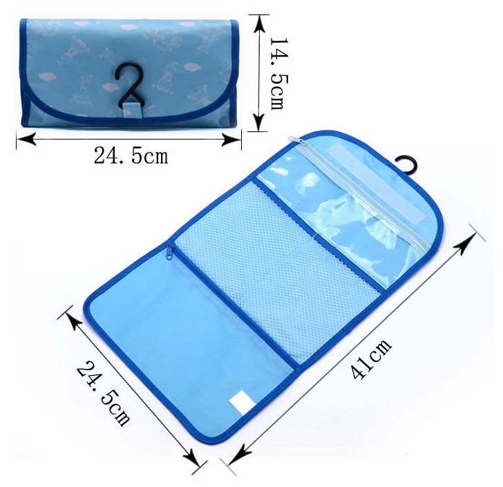 Wholesale 3 folding portable travel toiletry wash bag, Toiletry kits