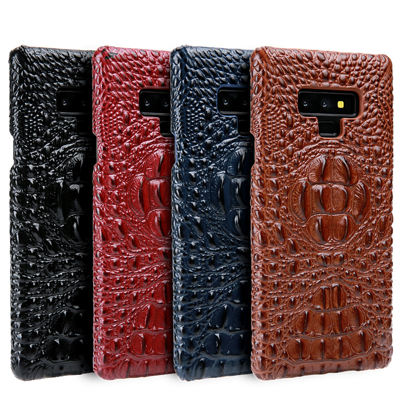 luxury crocodile pattern pu cell phone case for samsung note 9,for samusng note 9 leather back case