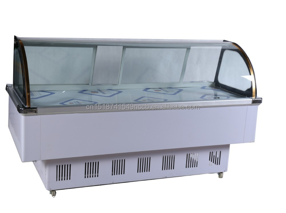 supermarket fresh meat chiller display fish refrigerater / butchery equipment