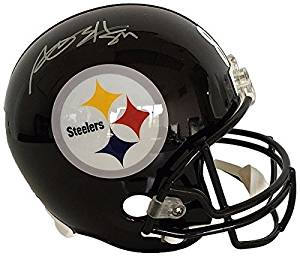 89744a384 Get Quotations · Antonio Brown Autographed Pittsburgh Steelers Full Size  Replica Flag Helmet - JSA Certified - Signed Football