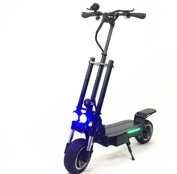 FLJ Hot selling 5600w fast fat tire electric scooter dual motor adult electric scooter, Black