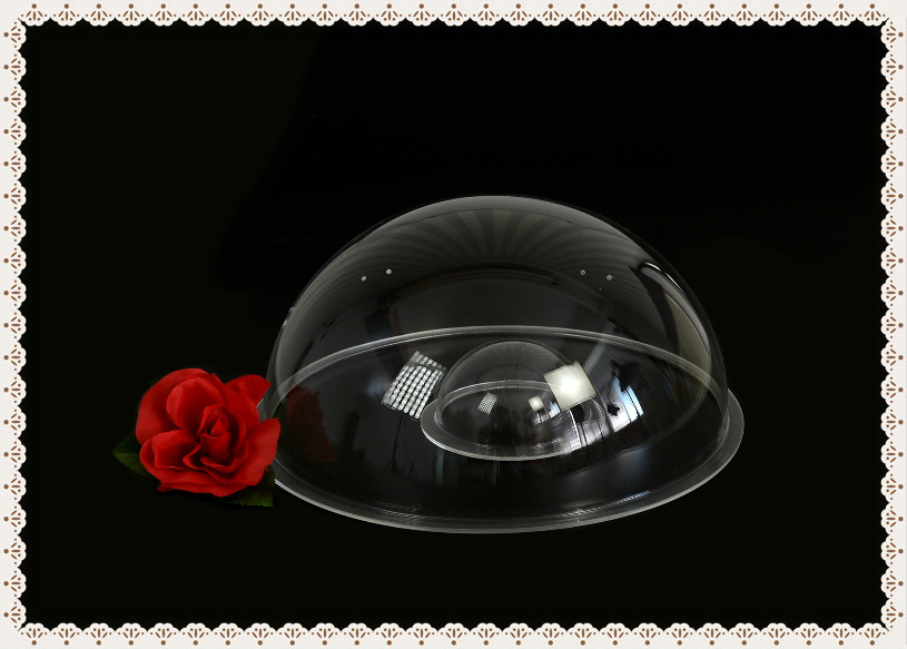 China factory customed clear acrylic dome lampshade