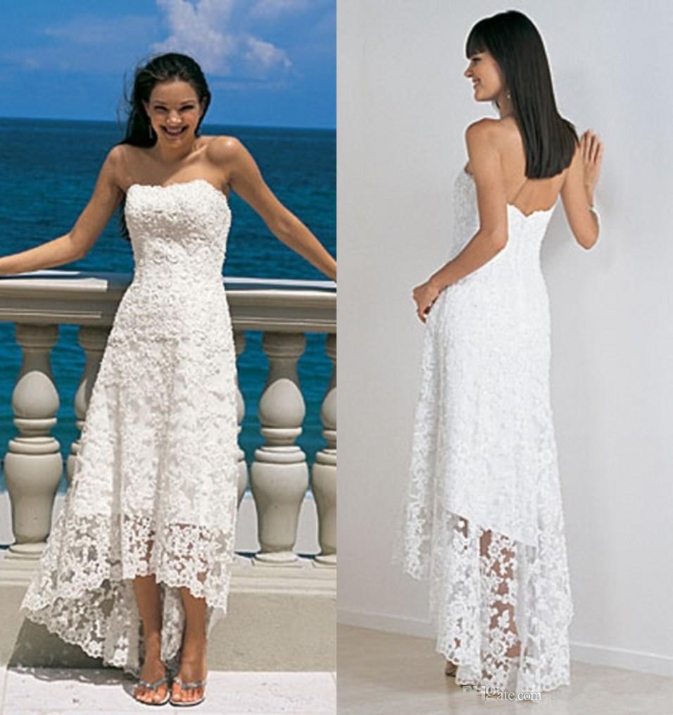 Aliexpress.com : Buy Beach Wedding Dresses High Low Cheap