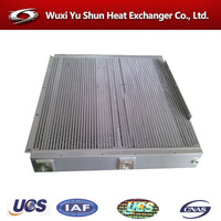combined hydraulic oil air cooler for agricultural machinery