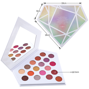 Amazing Cardboard Pressed Powder Shimmer Diamond Eyeshadow Palette with Duo Chrome Chameleon Glow Eyeshadow