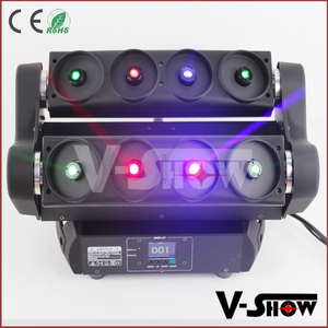 Laser christmas lights 8 eyes moving head RGB full color laser light holographic projector