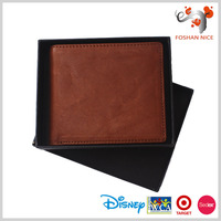 zipper 2 fold rfid branded wallet for men