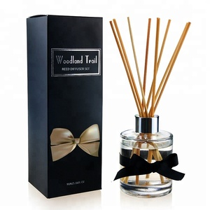 Hot Sale 3.38oz 100ml Spot UV Box Decorative Glass Bottle Reed Diffuser