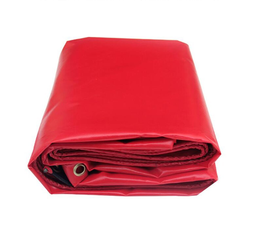 Red pvc coated cloth/rain canopy top/canvas cover rain cloth/0.32mm Oxford waterproof cloth/outdoor shade cloth/450g/square meter (Color : Red, Size : 44m)