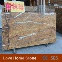 India Rainforest Brown Marble as Tile Material for Restaurant Kitchen Wall