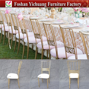 Metal wedding event chair / tiffanny chair/ gold cross back chair for wedding YC-A251