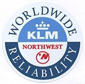 KLM Royal Dutch Airlines waterproof paper sticker seal