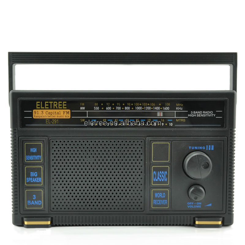 online shopping world band receiver radio/fm mw sw band radio/DC radio EL-291 guangdong radio