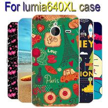 Cartoon Painting Case Cover For Microsoft Nokia Lumia 640XL Hard Plastic Back Case For Nokia Lumia 640 xl Case 640xl Cover
