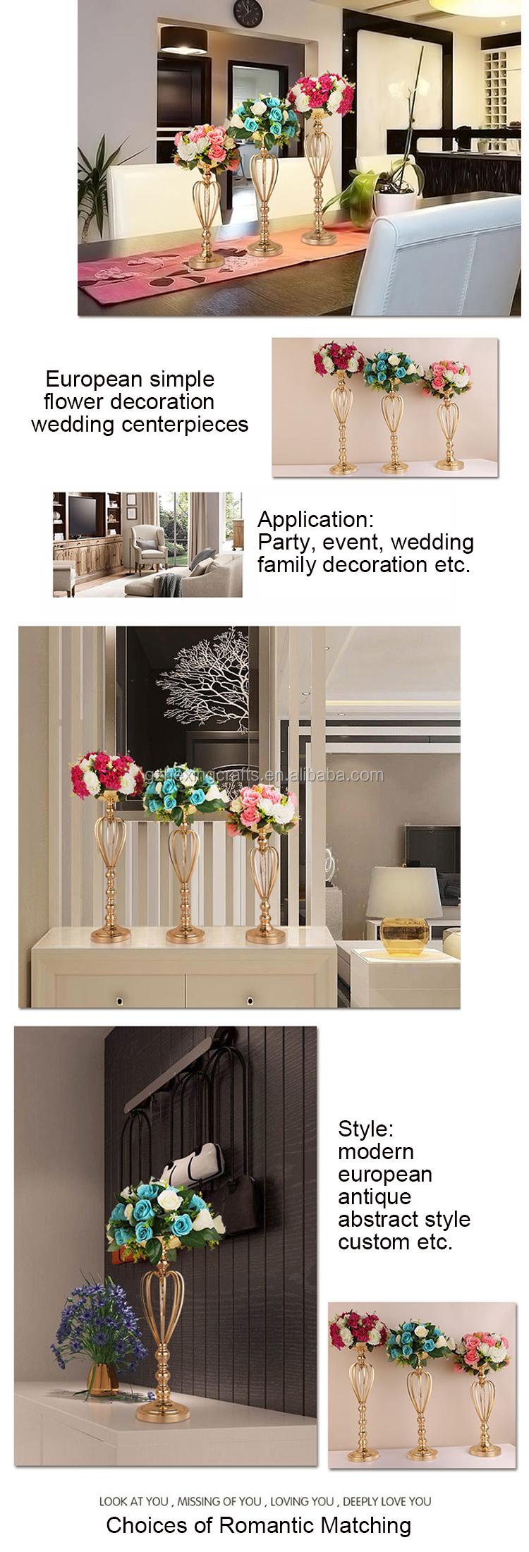 34 cm hot bán trang trí đám cưới hoa kim loại đứng, đám cưới đường dẫn centerpieces hoa chủ