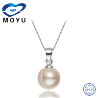 Jewelry Display 925 Sterling Silver 10MM Seashell pearl pendant designs import silver jewelry