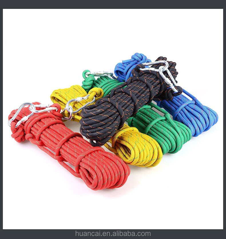 Clibming Gear 14mm Static Ropes 3300KG Mountain climbing ropes rescue ropes ice climbing tree