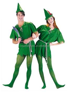 Peter Pan Adult Costume Green Dress Up Dress Fairy Elf Cosplay