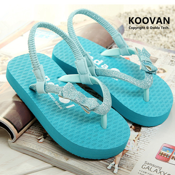 2015 Mother Daughter Tide Slippers Women s Kid Toe Sandals Summer Girls Slippers Bowknet Beach Shoes