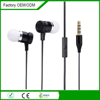 Newest style wholesale flat cable in ear stereo earphone with long wire