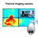 1080p outdoor dual heat Sensor thermal cctv security ptz camera