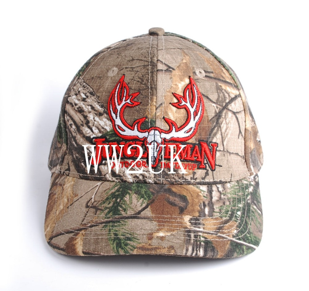 Camouflage outdoor climbing baseball cap JUNGL EMAN Men's dad hat with bull embroidery