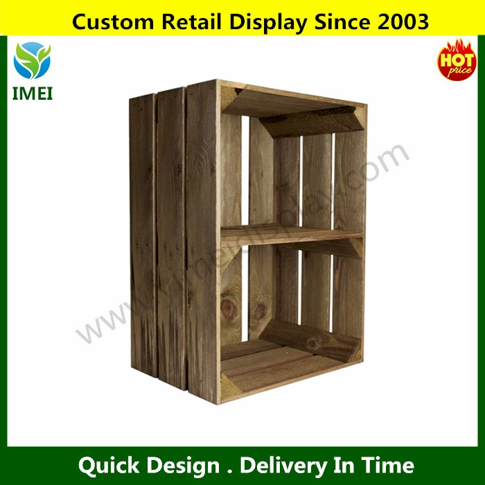 YM0774 unique customized bottles wooden beer crate for sale