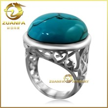 wholesale silver turquoise middle east jewelry big turquoise rings