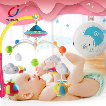 Factory supply china cot mobile rc electric projection baby toy