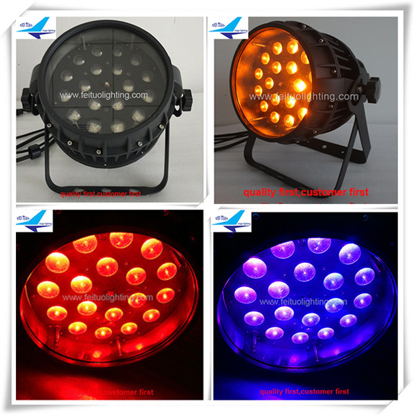 Stage light outdoor IP65 18x18w rgbwa uv 6in1 led par zoom led wash par