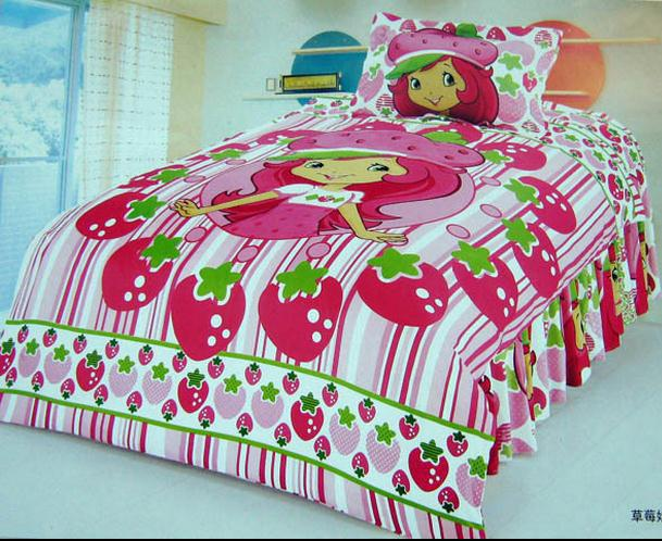 Strawberry Shortcake Bedroom Comforter Set Twin Bedding
