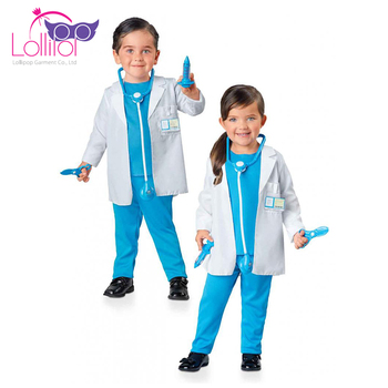 Factory price custom cosplay costume patterns kids doctor dress up set costume