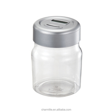 Jar shape electronic money counting piggy bank