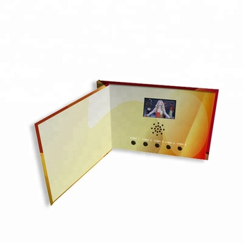 "2.4/4.3/5/7/10"" LCD Video Greeting Card/LCD Video Brochure/LCD Video Book for promotion"