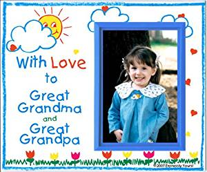 Great Grandma & Great Grandpa Picture Frame   Holds a 3.5 x 5 Photo   Affordable, Colorful   Innovative Front-Load Design   Crayola Theme