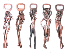 China Vintage Metal Sex Girl Bottle Opener